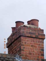 Chimney repair to damaged chimney stack
